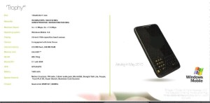 HTC Trophy Specs