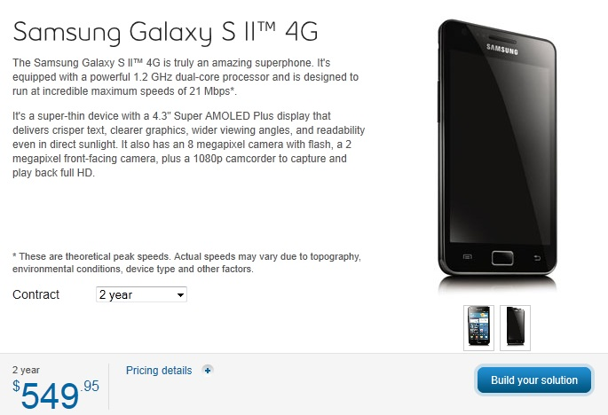 Virgin Mobile and Bell Canada now offering Samsung Galaxy S II