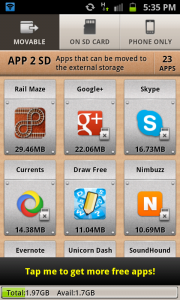 App 2 SD Main Interface