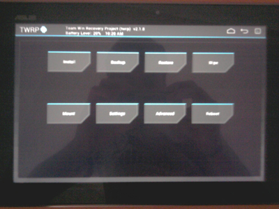 How to Install TWRP Recovery on Asus Transformer Tablet