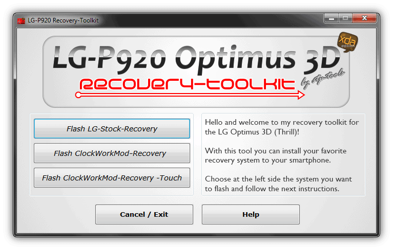 LG Optimus 3D Recovery Toolkit