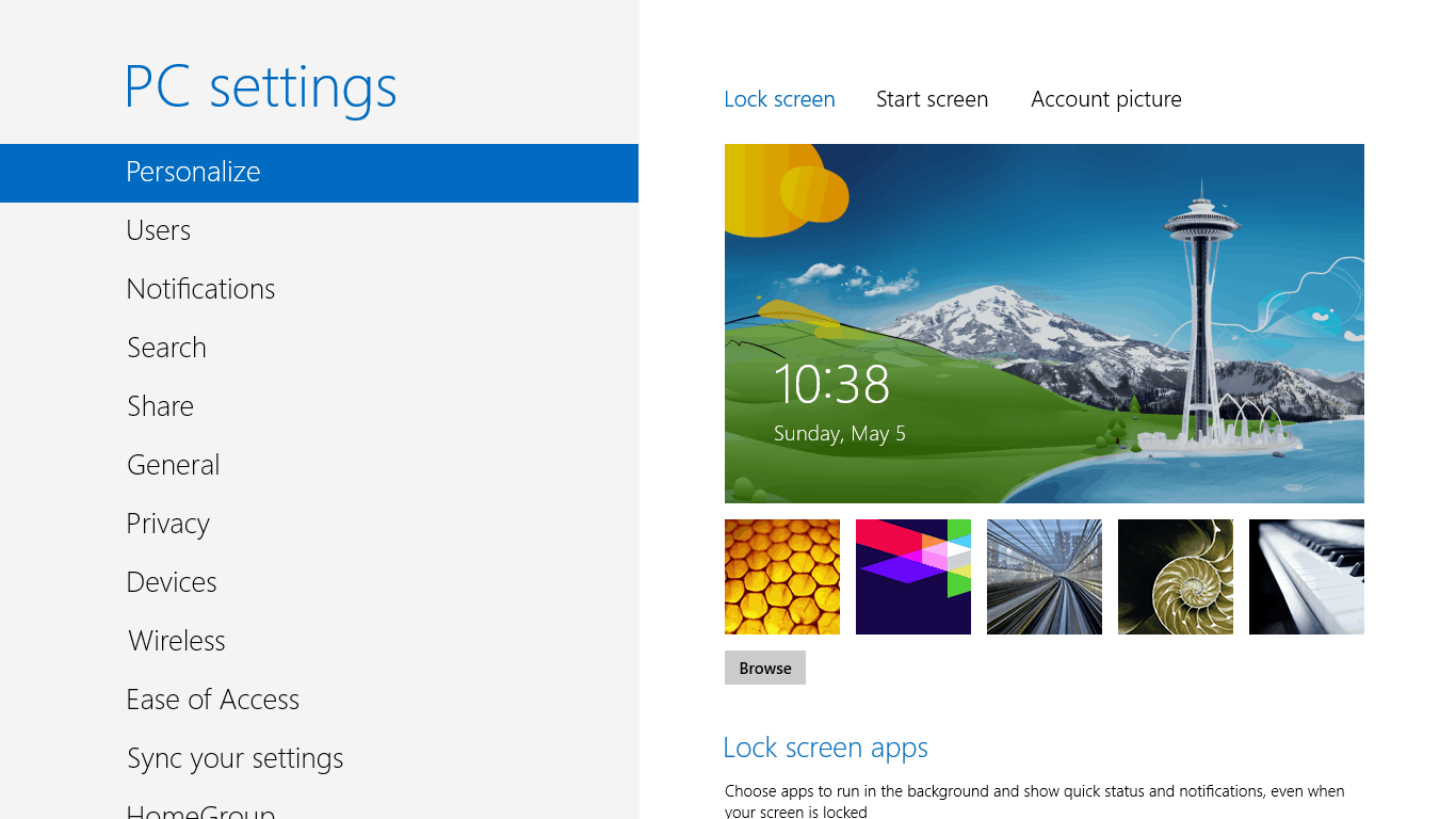 How to change lock screen background in windows 8 for Change background wallpaper your home screen