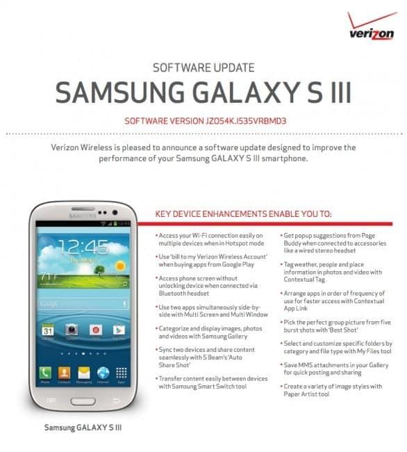 Verizon Galaxy S3 Primed for Major Update: Multi-Screen ...