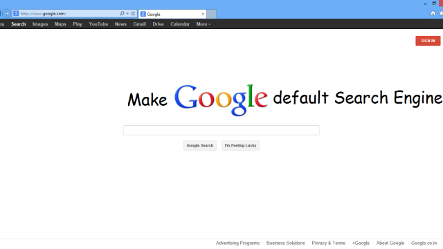 how to change default search engine