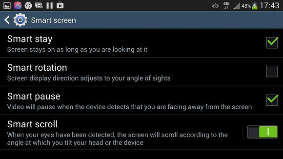 How to enable smart scroll on the samsung galaxy s4 ccuart Image collections