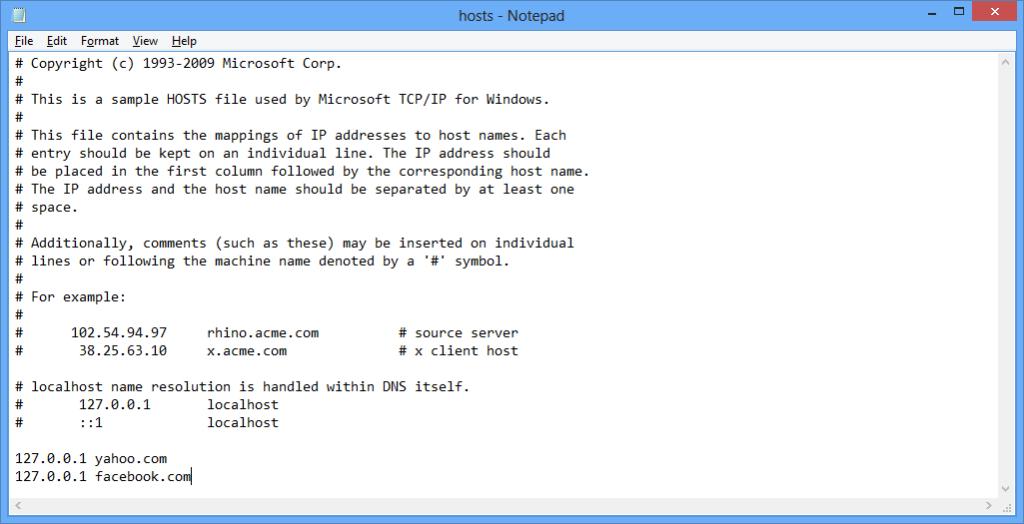 How to Block Websites in Windows 8