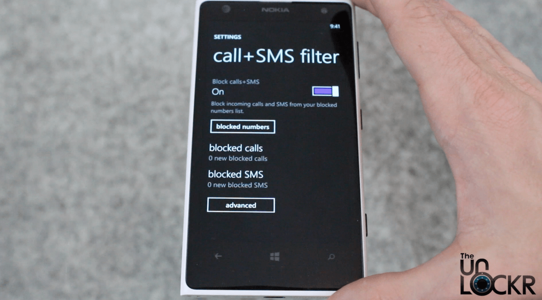 sms filter app windows phone