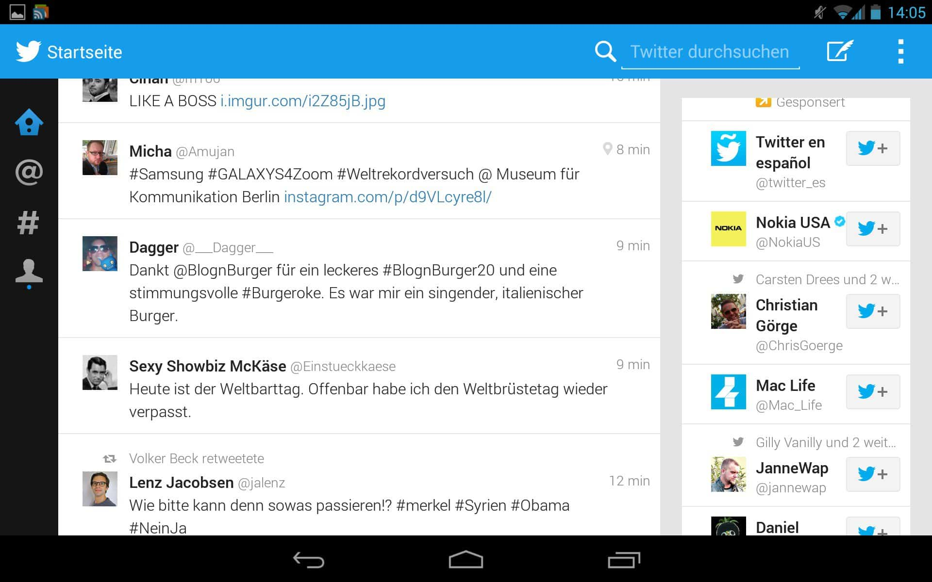 twitter 39 s official tablet app leaks out of ifa download apk here. Black Bedroom Furniture Sets. Home Design Ideas