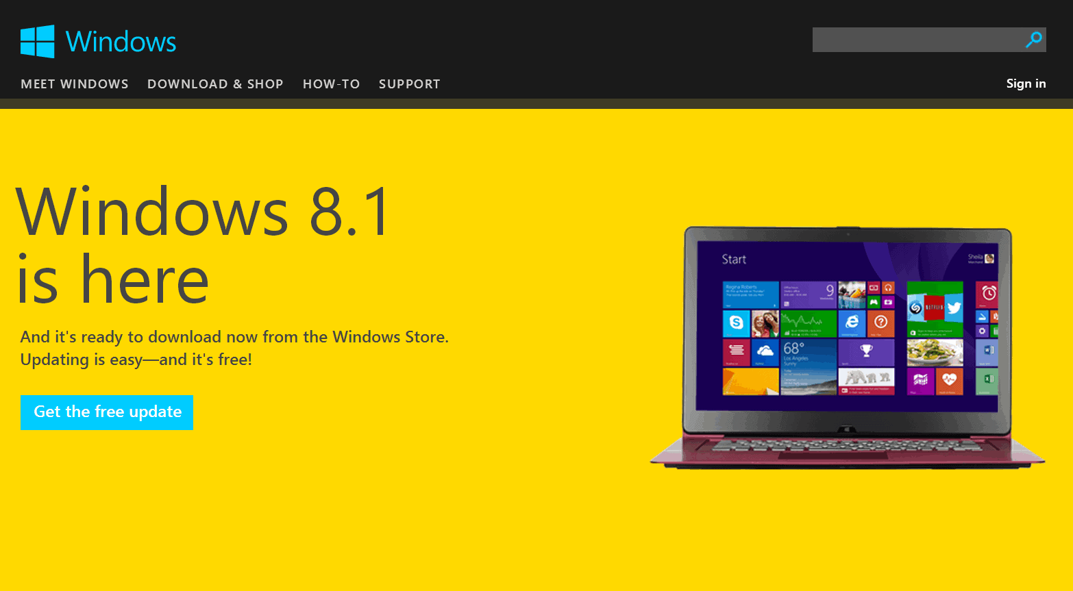 how to get update windows 8 to windows 10