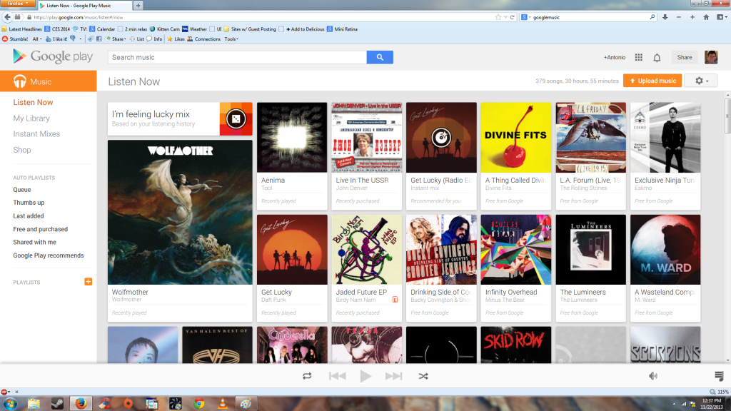 Google Play home page