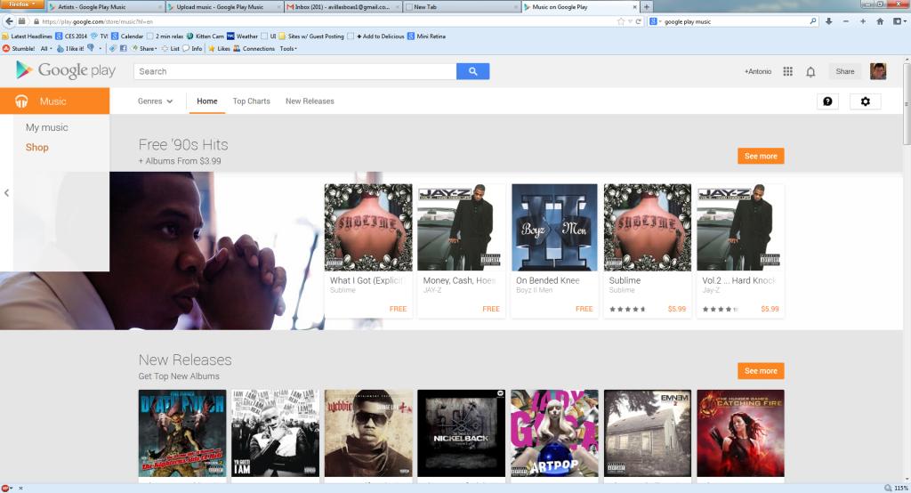 google play homepage 1