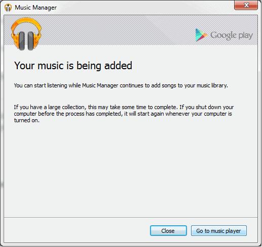 music being addes screen