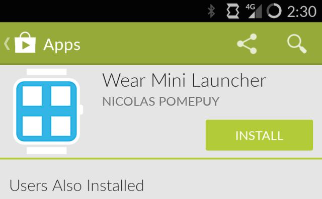 Install Wear Mini Launcher