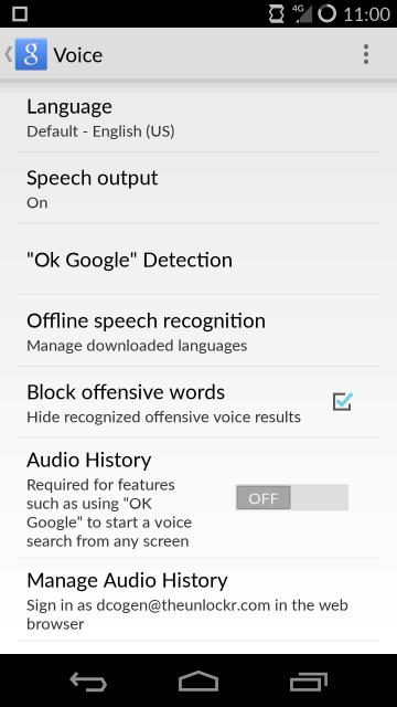 Tap OK Google Detection