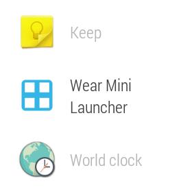 Wear Mini Launcher