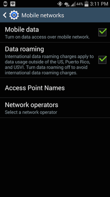 Access Point Names