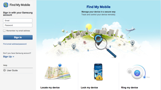 How to use find my mobile on the samsung galaxy s5 - Samsung dive mobile tracker ...