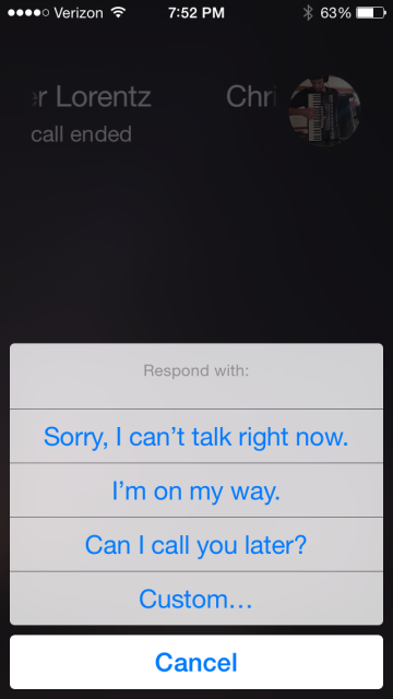 auto reply text iphone how to auto reply to a phone call with a text on the iphone 13525