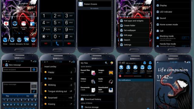 Venomous Droid Blue Chrome v1 ROM