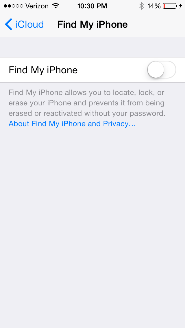 how to turn on the find my iphone