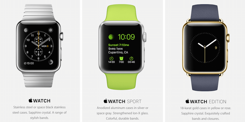 Apple iWatch Editions