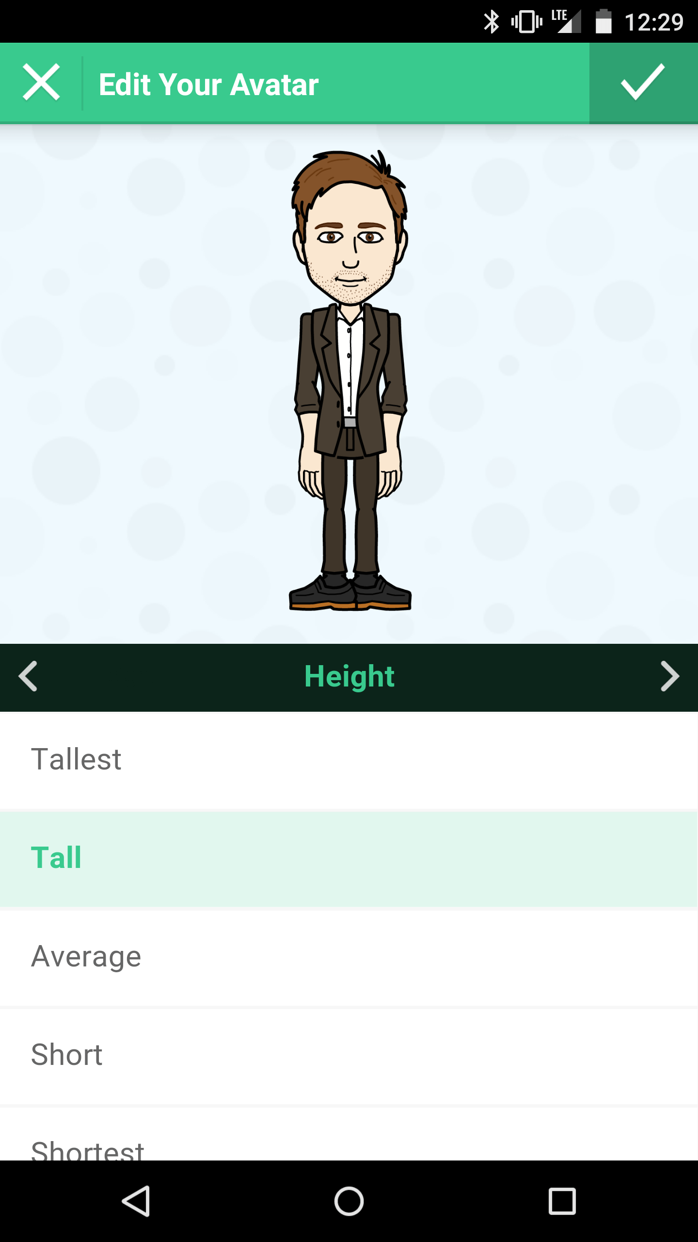 bitmoji height