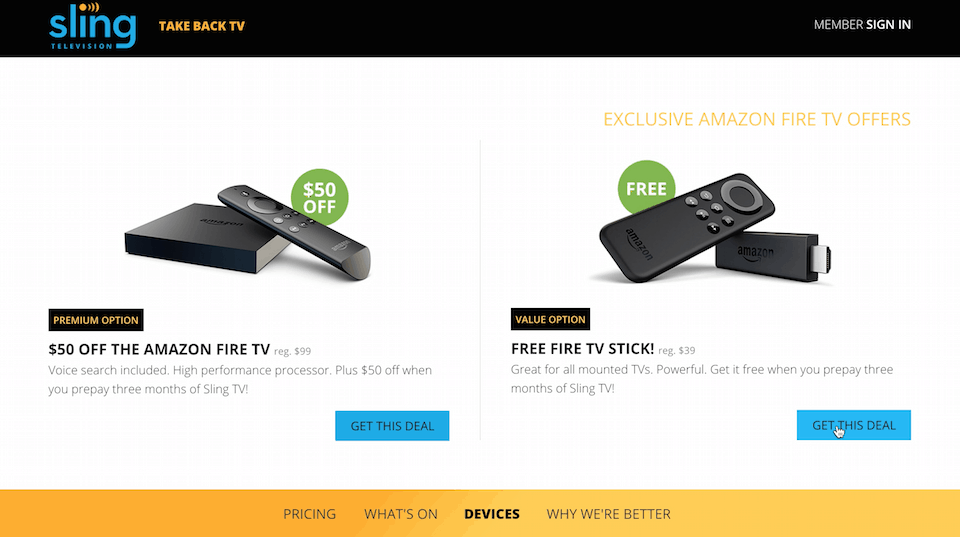 Sling TV Fire Stick Deal