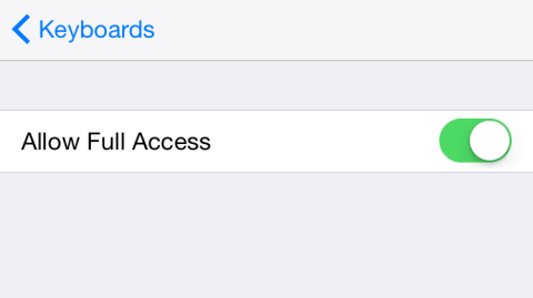 Allow Full Access