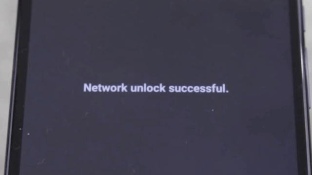 Network Unlock Successful