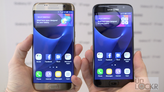 Galaxy S7 & S7 Edge Side by Side