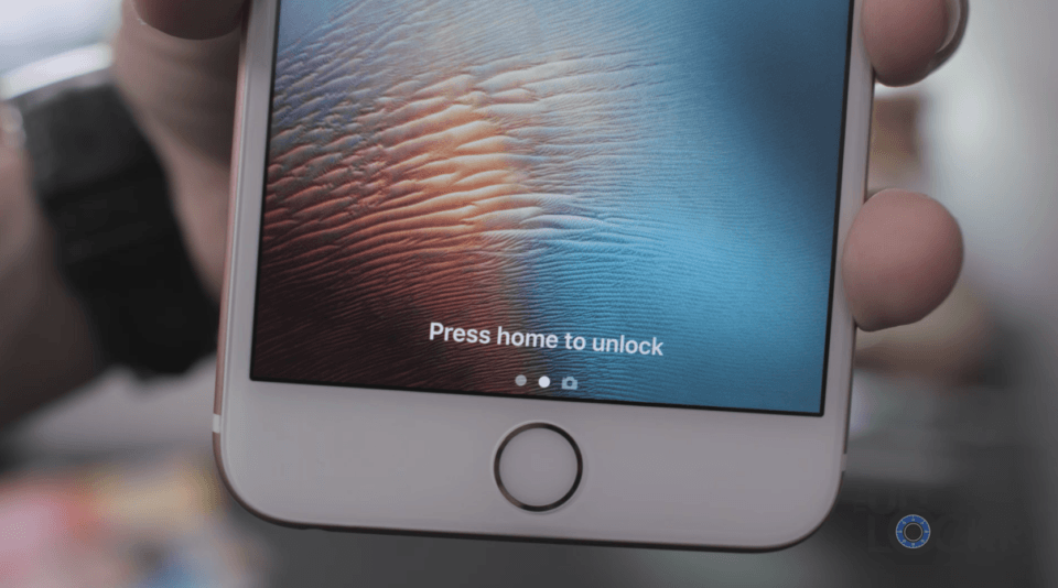 Press Home to Unlock