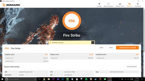 Razer Blade Stealth Firestrike Score