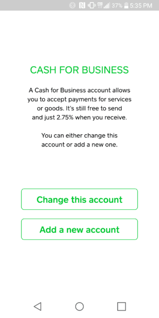 Square Cash Business Account