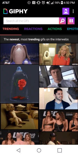 Giphy on Android