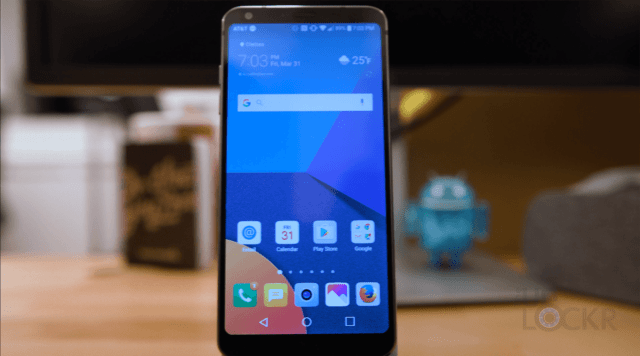 LG G6 on Stand