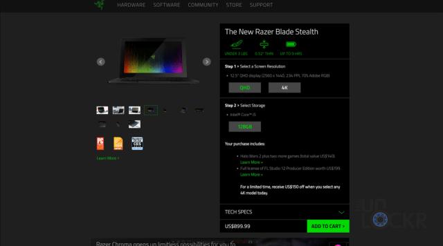 Razer Blade Stealth Pricing