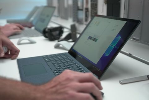 Surface Laptop Being Used
