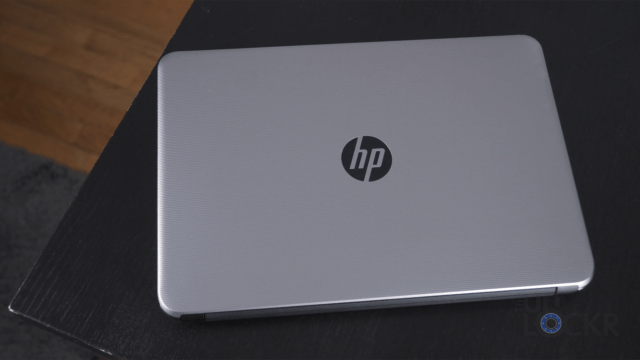 HP Laptop on Table