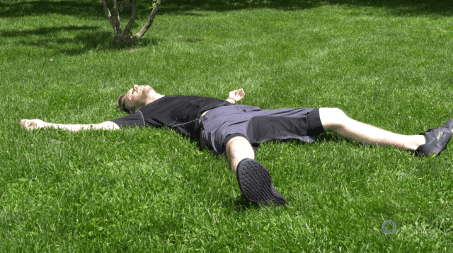 Lying on the Grass After a Run