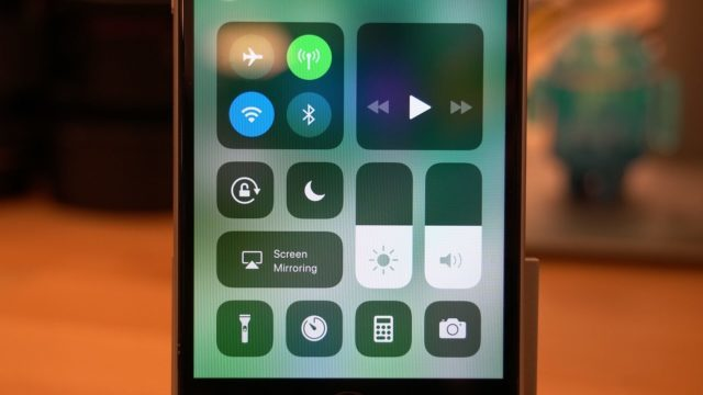 iOS 11 Beta Control Center