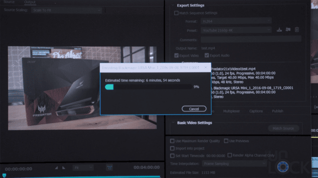 Adobe Rendering Footage