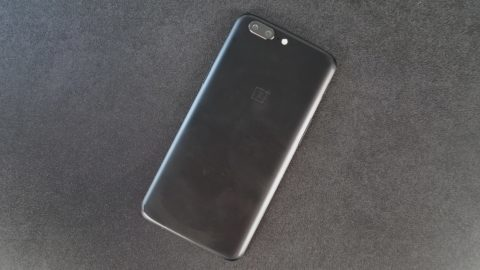 OnePlus 5 on Table Alone
