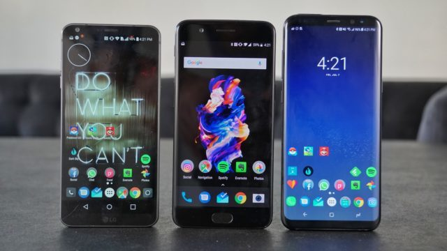 OnePlus 5 vs G6 vs GS8 Plus