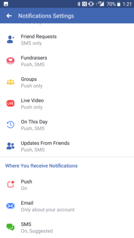 Facebook Live Video Settings