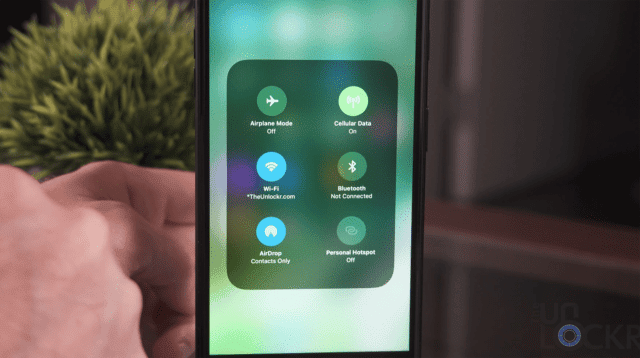 3D Touch in the iOS 11 Control Center