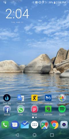LG V30 Homescreen