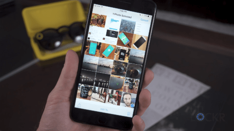 how to add multiple photos to snapchat