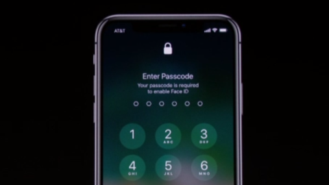 iPhone X FaceID Message