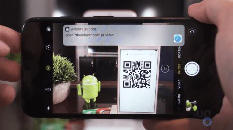 iPhone Camera Using QR Codes
