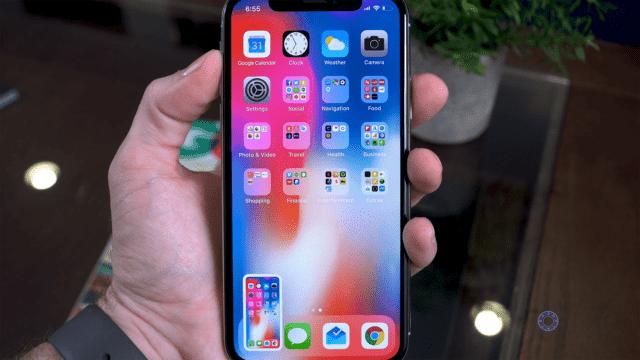 Screenshot on iPhone X